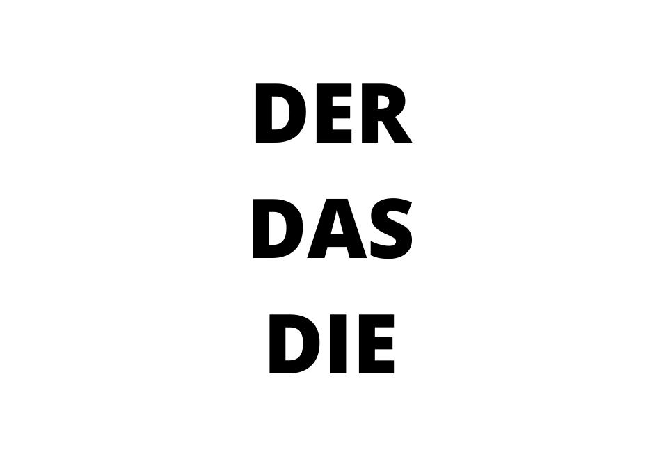Rodovi imenica u nemačkom jeziku - der, die ili das?